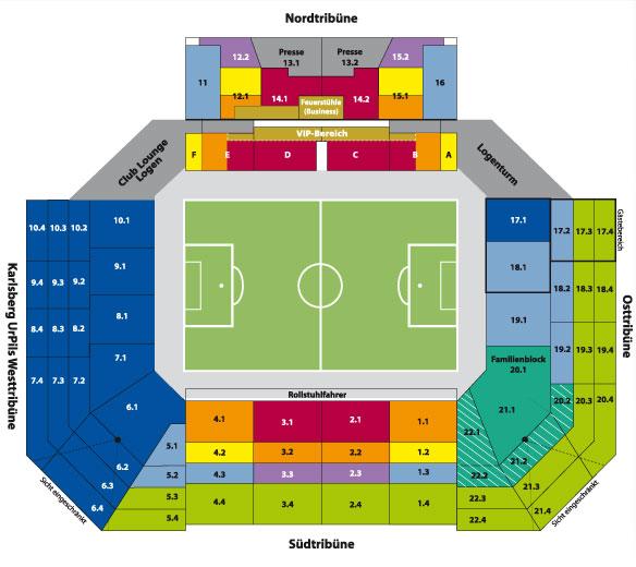 Betzenberg Stadionplan