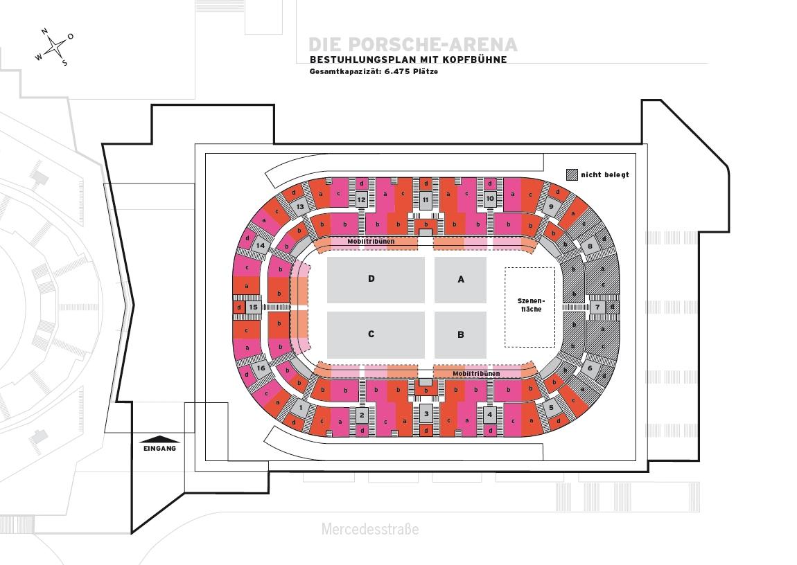 Porsche Arena Stuttgart Sitzplan
