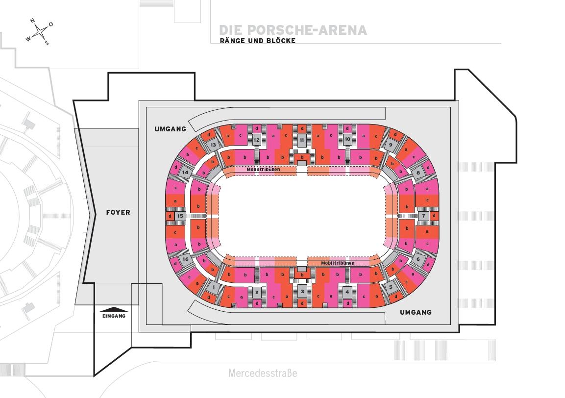 Porsche Arena Sitzplan