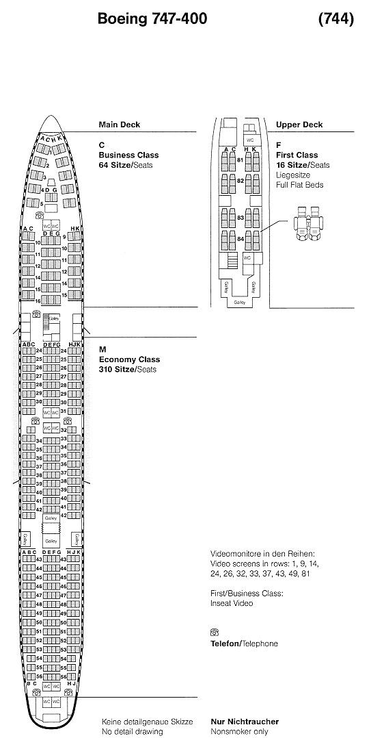Boeing 747 400 Klm Seat Map Klm Seat
