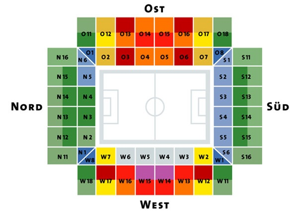 Rhein Energie Stadion Plan
