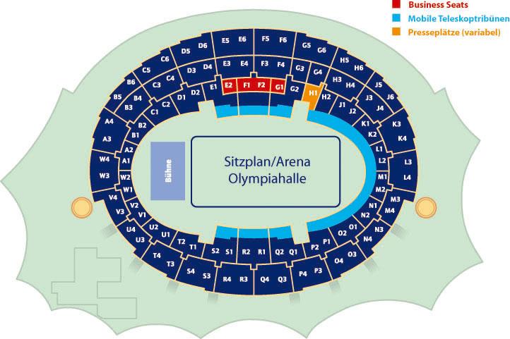 Olympiahalle München Sitzplan