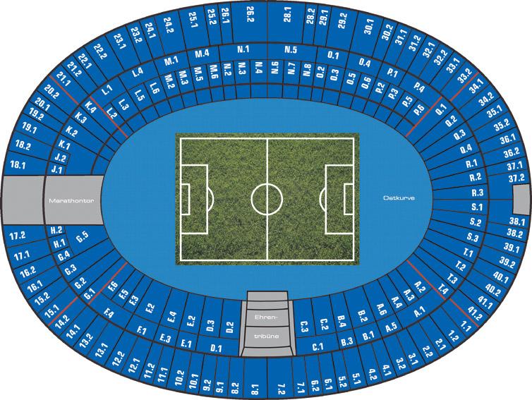 Olympiastadion Berlin Sitzplätze