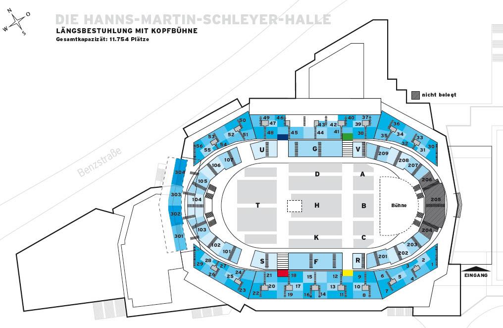 Sitzplan Saalplan Der Hanns Martin Schleyer Halle In Stuttgart