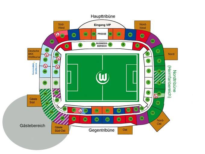 Wolfsburg Stadion Plätze